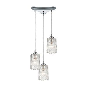 "Ezra - 12"" Three Light Pendant I"