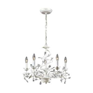 Circeo - 5 Light Chandelier in Traditional Style with Shabby Chic and Nature/Organic inspirations - 18 Inches tall and 21 inches wide