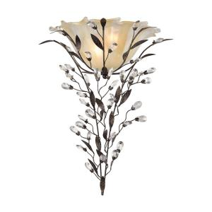 Circeo - 2 Light Wall Sconce in Traditional Style with Shabby Chic and Nature/Organic inspirations - 22 Inches tall and 17 inches wide