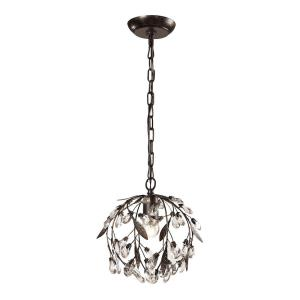 Circeo - 1 Light Mini Pendant in Traditional Style with Shabby Chic and Nature/Organic inspirations - 10 Inches tall and 10 inches wide
