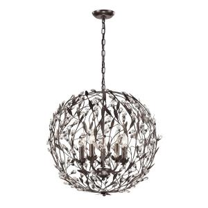 Circeo - 5 Light Chandelier in Traditional Style with Shabby Chic and Nature/Organic inspirations - 24 Inches tall and 24 inches wide