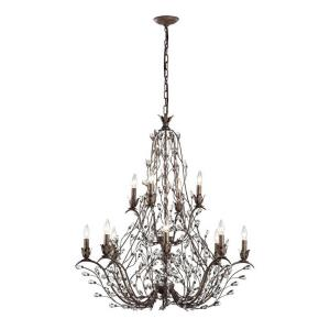 Sagemore - 12 Light Chandelier in Traditional Style with Shabby Chic and Nature/Organic inspirations - 40 Inches tall and 37 inches wide