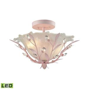 Circeo - 19W 2 LED Semi-Flush Mount in Traditional Style with Shabby Chic and Nature/Organic inspirations - 11 Inches tall and 17 inches wide