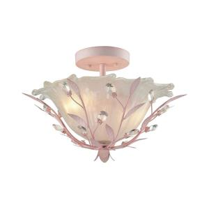 Circeo - 2 Light Semi-Flush Mount in Traditional Style with Shabby Chic and Nature/Organic inspirations - 11 Inches tall and 17 inches wide