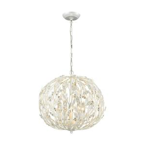 Trella - 5 Light Chandelier in Traditional Style with Shabby Chic and Nature/Organic inspirations - 17 Inches tall and 18 inches wide