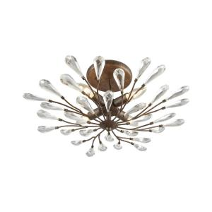 Crislett - 4 Light Semi-Flush Mount in Traditional Style with Shabby Chic and Nature/Organic inspirations - 10 Inches tall and 22 inches wide