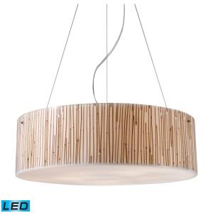 Modern Organics - 47.5W 5 LED Chandelier in Modern/Contemporary Style with Coastal/Beach and Nature inspirations - 7 Inches tall and 24 inches wide