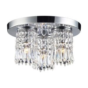 Optix - 3 Light Semi-Flush Mount in Modern/Contemporary Style with Boho and Luxe/Glam inspirations - 7 Inches tall and 12 inches wide