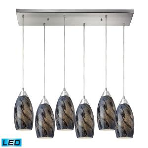 "Galaxy - 30"" 57W 6 LED Rectangular Pendant"