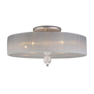 Alexis - 5 Light Semi-Flush Mount in Transitional Style with Luxe/Glam and Mid-Century Modern inspirations - 12 Inches tall and 23 inches wide