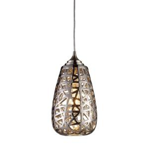 Nestor - 1 Light Mini Pendant in Modern/Contemporary Style with Luxe/Glam and Asian inspirations - 13 Inches tall and 8 inches wide