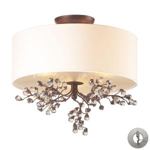 Winterberry - 3 Light Semi-Flush Mount in Traditional Style with Nature-Inspired/Organic and Country inspirations - 15 Inches tall and 16 inches wide