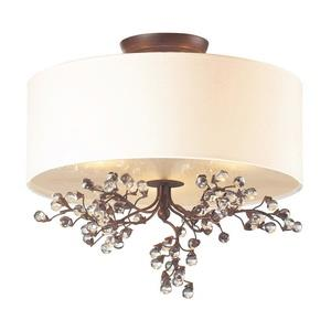 Winterberry - Three Light Semi-Flush Mount