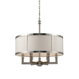 Seven Springs - 6 Light Chandelier in Transitional Style with Art Deco and Mission inspirations - 23.5 Inches tall and 22 inches wide