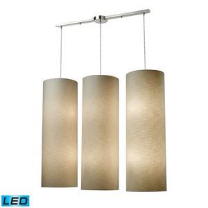Fabric Cylinders - 28 Inch 114W 12 LED Round Pendant