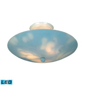 Kidshine - 28.5W 3 LED Semi-Flush Mount in Transitional Style with Children and Eclectic inspirations - 6 Inches tall and 17 inches wide