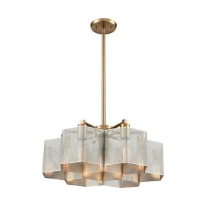 Compartir - 7 Light Chandelier in Modern/Contemporary Style with Urban/Industrial and Luxe/Glam inspirations - 9 Inches tall and 20 inches wide