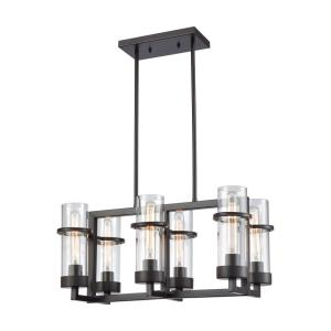 Holbrook - 6 Light Chandelier in Transitional Style with Modern Farmhouse and Country/Cottage inspirations - 11 Inches tall and 22 inches wide