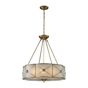 Preston - 6 Light Chandelier in Traditional Style with Art Deco and Luxe/Glam inspirations - 26 Inches tall and 23 inches wide