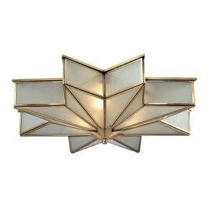 Decostar - 3 Light Flush Mount in Traditional Style with Art Deco and Luxe/Glam inspirations - 6 Inches tall and 21 inches wide