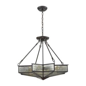 Decostar - 4 Light Chandelier in Traditional Style with Art Deco and Luxe/Glam inspirations - 22 Inches tall and 25 inches wide