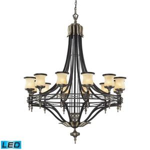 "Georgian Court - 62"" 114W 12 LED Chandelier"