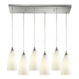 Vesta - Six Light Rectangular Pendant