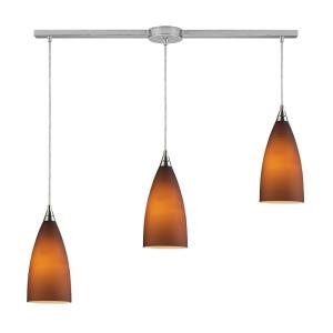 Vesta - 3 Light Linear Pendant in Transitional Style with Country/Cottage and Art Deco inspirations - 12 Inches tall and 5 inches wide