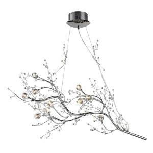 Viviana - 10 light Chandelier in Modern/Contemporary Style with Nature-Inspired/Organic and Asian inspirations - 39 Inches tall and 20 inches wide
