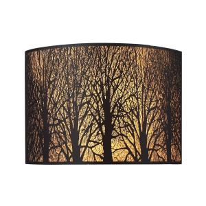 Woodland Sunrise - 2 Light Wall Sconce in Modern/Contemporary Style with Country/Cottage and Asian inspirations - 8 Inches tall and 11 inches wide