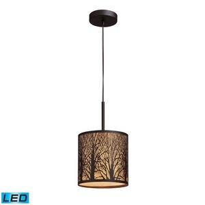 "Woodland Sunrise - 13"" 9.5W 1 LED Mini Pendant"