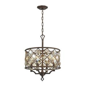 Armand - 4 Light Chandelier in Traditional Style with Luxe/Glam and Victorian inspirations - 22 Inches tall and 17 inches wide