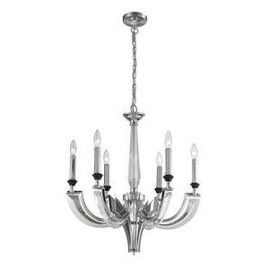 Crystal Infusion - Six Light Chandelier
