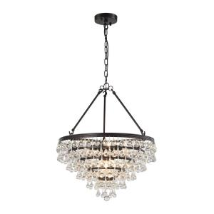 Ramira - 6 Light Chandelier in Transitional Style with Art Deco and Luxe/Glam inspirations - 24 Inches tall and 19 inches wide