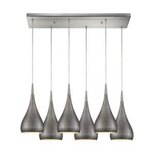 Lindsey - Six Light Rectangular Pendant