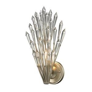 Viva - 1 Light Wall Sconce in Traditional Style with Nature-Inspired/Organic and Luxe/Glam inspirations - 15 Inches tall and 8 inches wide