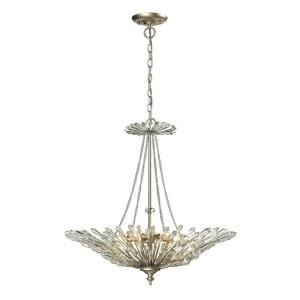 Viva - 6 Light Chandelier in Traditional Style with Nature-Inspired/Organic and Luxe/Glam inspirations - 27 Inches tall and 26 inches wide
