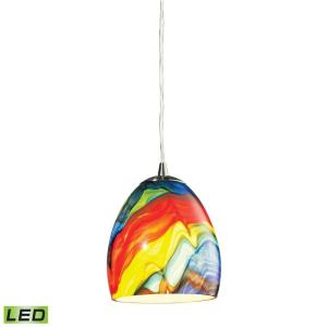 Colorwave - 9.5W 1 LED Mini Pendant in Modern/Contemporary Style with Boho and Coastal/Beach inspirations - 7 Inches tall and 6 inches wide
