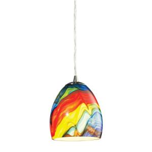 Colorwave - 1 Light Mini Pendant in Modern/Contemporary Style with Boho and Coastal/Beach inspirations - 7 Inches tall and 6 inches wide