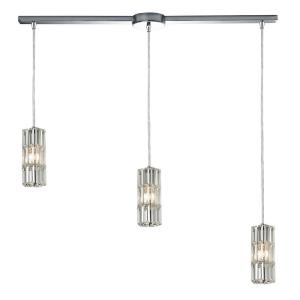 Cynthia - 3 Light Linear Pendant in Modern/Contemporary Style with Luxe/Glam and Art Deco inspirations - 8 Inches tall and 5 inches wide