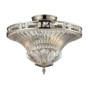 Aubree - 2 Light Semi-Flush Mount in Traditional Style with Luxe/Glam and Eclectic inspirations - 11 Inches tall and 15 inches wide