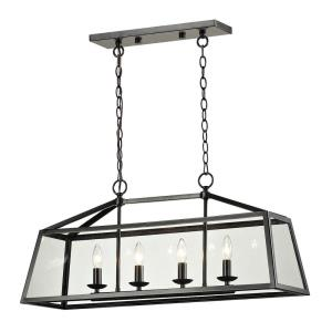 Alanna - 4 Light Chandelier in Transitional Style with Country/Cottage and Modern Farmhouse inspirations - 15 Inches tall and 10 inches wide