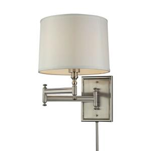 Swingarms - 1 Light Swingarm Wall Sconce in Transitional Style with Art Deco and Vintage Charm inspirations - 16 Inches tall and 11 inches wide