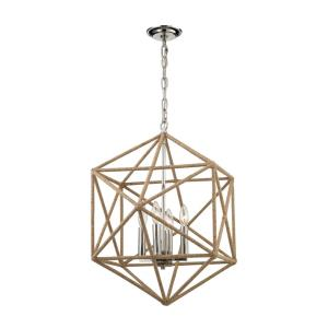Exitor - 4 Light Chandelier in Modern/Contemporary Style with Mid-Century and Scandinavian inspirations - 25 Inches tall and 23 inches wide