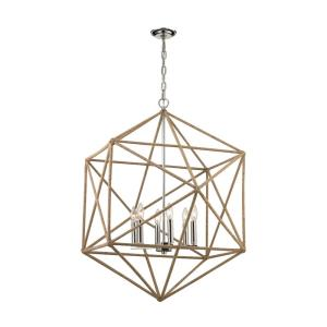 Exitor - 6 Light Chandelier in Modern/Contemporary Style with Mid-Century and Scandinavian inspirations - 36 Inches tall and 34 inches wide
