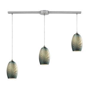 Tidewaters - Three Light Linear Pendant
