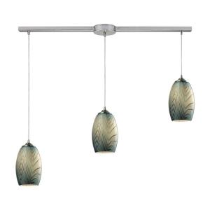 Tidewaters - 3 Light Linear Pendant in Transitional Style with Coastal/Beach and Southwestern inspirations - 10 Inches tall and 5 inches wide