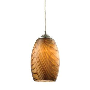 Tidewaters - 1 Light Pendant in Transitional Style with Coastal/Beach and Eclectic inspirations - 8 Inches tall and 5 inches wide