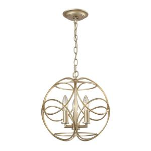 Chandette - 3 Light Pendant in Traditional Style with Luxe/Glam and Retro inspirations - 14 Inches tall and 14 inches wide
