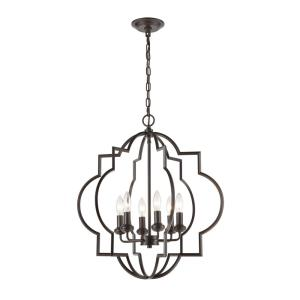 Chandette - 6 Light Chandelier in Transitional Style with Luxe/Glam  and Retro  inspirations - 25 Inches tall and 22 inches wide